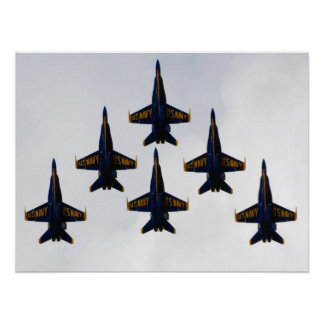 Navy Blue Angels Delta Formation Poster