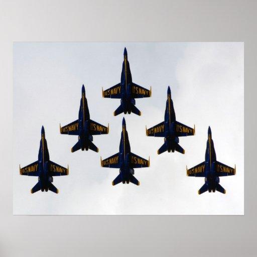 Navy Blue Angels Delta Formation Poster