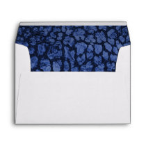 Navy Blue Animal Print Gold Star Envelope