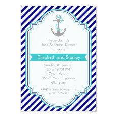 Navy blue, aqua nautical wedding rehearsal dinner 5