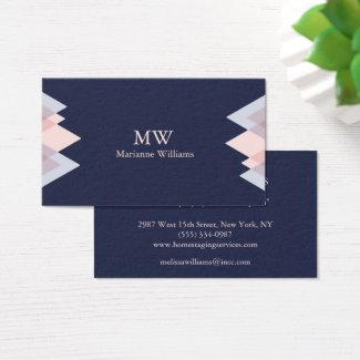 Business cards for women tropical papers navy blue arrow womens professional business business card colourmoves