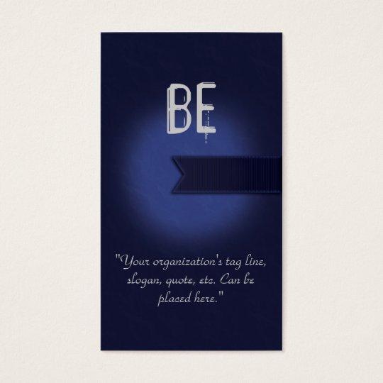 Navy Blue Awareness Business Card Charity