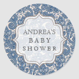 Navy Blue Baby Shower Dessert Table Tag Label