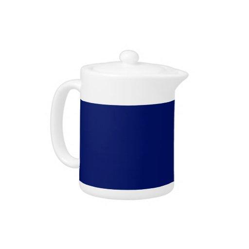 Navy Blue Background on a Teapot