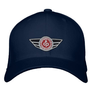 Navy blue ball-cap with red embroidered MCR logo Embroidered Baseball Cap