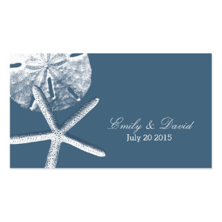 Navy Blue Beach Theme Wedding Website Insert Card