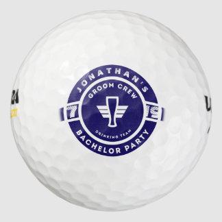Navy Blue Beer Badge Bachelor Party Branding Golf Balls