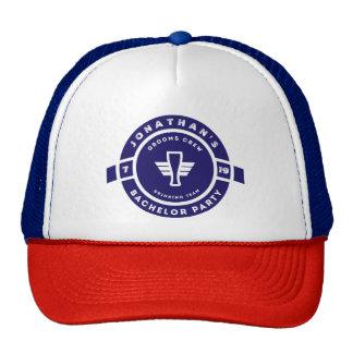 Navy Blue Beer Badge Bachelor Party Branding Trucker Hat