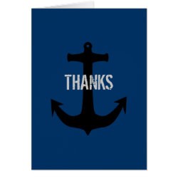 Navy Blue Best Man Thank You Message Note Cards