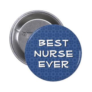 Navy Blue Best Nurse Ever Modern Lettering V05 2 Inch Round Button