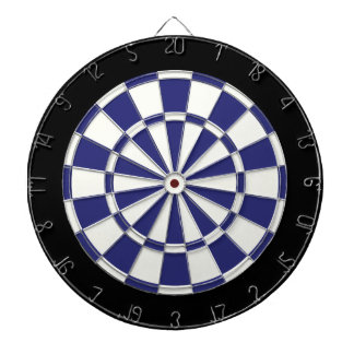 Navy Blue Black And White Dart Board