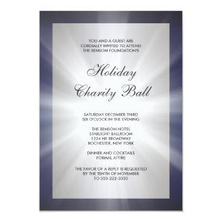 "Navy Blue Black Corporate Event Party Invitations 5"" X 7"" Invitation Card"