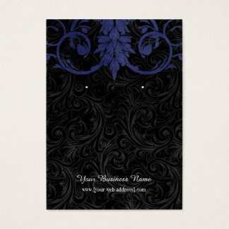 Navy Blue Black Vintage Custom Earring Card