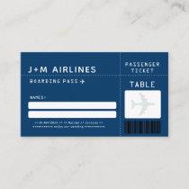 NAVY BLUE Boarding Pass Escort/Seating Card