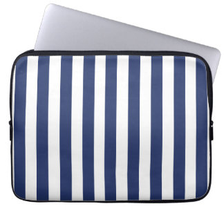NAVY BLUE BOLD FUN STRIPES PATTERN COMPUTER SLEEVES