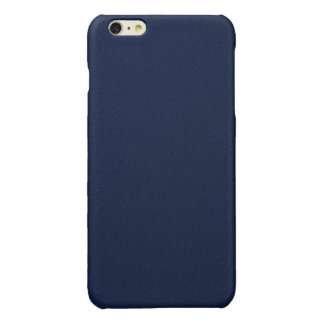 Navy Blue Bumpy Pattern Glossy iPhone 6 Plus Case
