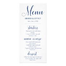 Navy Blue Calligraphy Wedding Menu