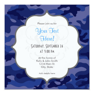 Navy Blue Camo, Camouflage Card