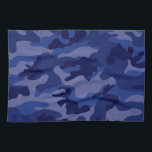 """Navy Blue Camo, Camouflage Hand Towel<br><div class=""""desc"""">You will love this cute,  chic,  Navy Blue Camo,  Camouflage pattern design! Great to own for yourself or as a gift. We invite you to our store,  Retro Pattern Shop,  to view this cool girly design on many more great modern customizable large and small products.  Thank you!</div>"""