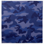 Navy Blue Camo, Camouflage Printed Napkin