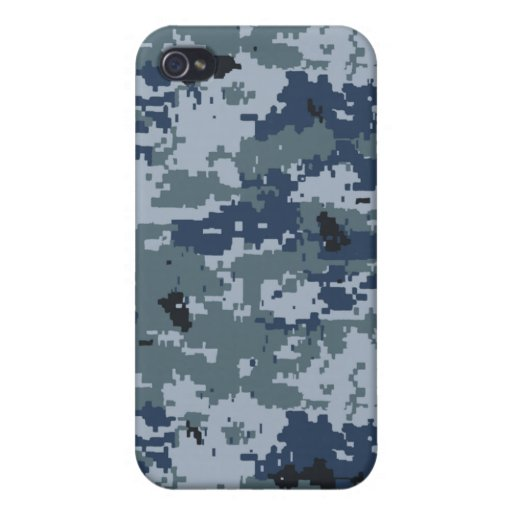 Navy Blue Camouflage iPhone 4 Speck Case iPhone 4 Covers