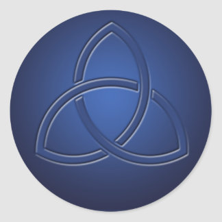 Navy Blue Celtic Love Knot Wedding Sticker