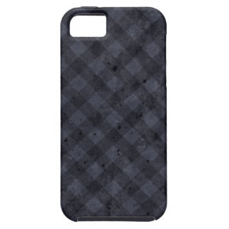 Navy Blue Checkered Flannel iPhone SE/5/5s Case