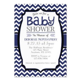 Navy Blue Chevron Magnetic Baby Shower Invite Magnetic Invitations