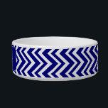 "Navy Blue Chevron Pattern Bowl<br><div class=""desc"">Navy blue chevron pattern. Navy blue and white zigzag stripes.</div>"