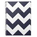 Navy Blue Chevron Zigzag Notepad Spiral Note Book