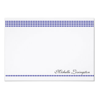 Navy Blue Chic Personalized Flat Note Cards