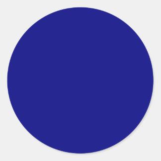 Navy Blue Classic Round Sticker