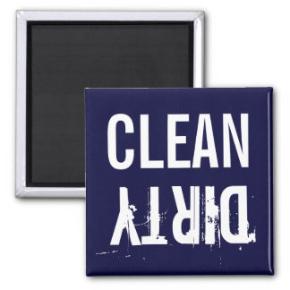 Navy Blue Clean Dirty Dishwasher Kitchen Magnet Refrigerator Magnets