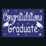 "Navy Blue Congratulations Graduate Yard Sign<br><div class=""desc"">Navy Blue Congratulations Graduate Yard Sign.</div>"