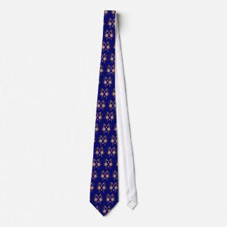 Navy Blue Coral Sea Horse Print Neck Tie
