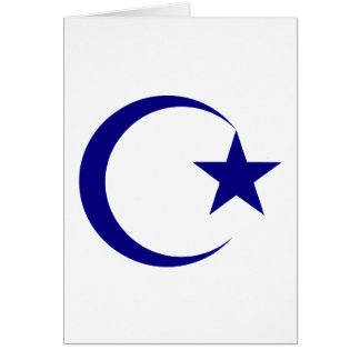 Navy Blue Crescent & Star.png Greeting Cards