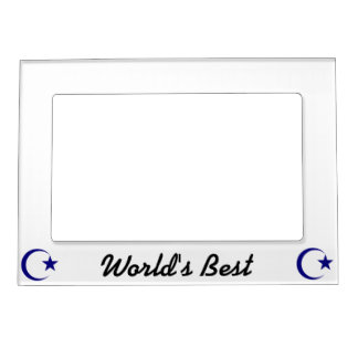 Navy Blue Crescent & Star.png Magnetic Photo Frame