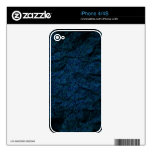 Navy Blue Crushed Paper Pattern Decal For The iPhone 4S