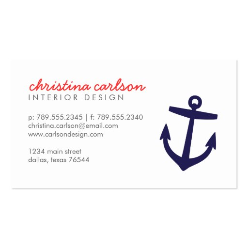 Nautica business card templates page3 bizcardstudio navy blue cute nautical anchor stripes business card template reheart Choice Image