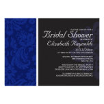 Navy Blue Damask Bridal Shower Invitations Personalized Announcements