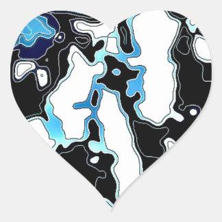 Navy blue desgins products heart sticker