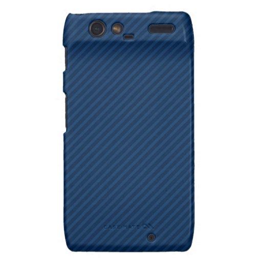 Navy Blue Diagonal Stripes, Striped Motorola Droid RAZR Covers