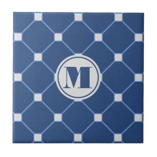 Navy Blue Diamond Tile
