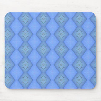 Navy Blue Diamonds Design Mouse Pad