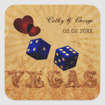 navy blue dice Vintage Vegas favor stickers