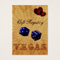 navy blue dice Vintage Vegas Gift registry Business Card