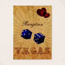 navy blue dice Vintage Vegas reception cards