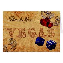 navy blue dice Vintage Vegas Thank You Card
