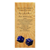 navy blue dice Vintage Vegas wedding program