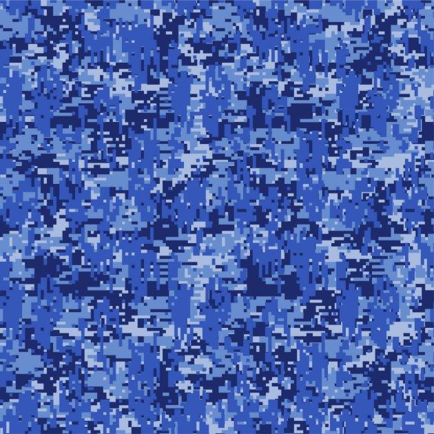 Navy Blue Digital Camo Camouflage Customizable Fabric Zazzle